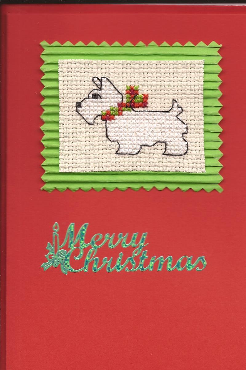 Tarjetas de Navidad con decoración de perrito