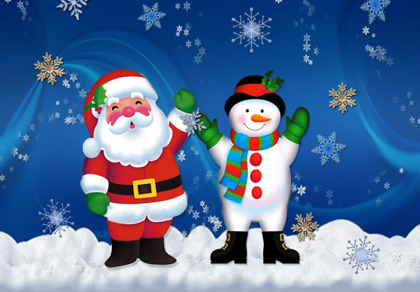 Tarjetas de Papa Noel para Navidad