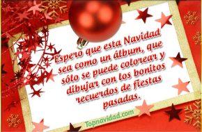 Tarjetas de navidad con frases cortas para felicitar