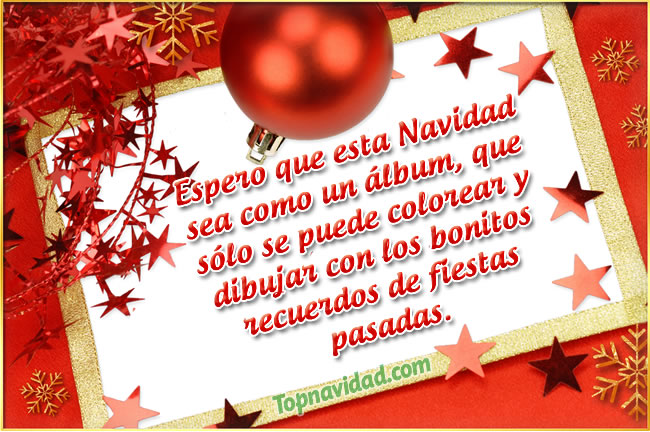 Imagenes con Frases de navidad para felicitar