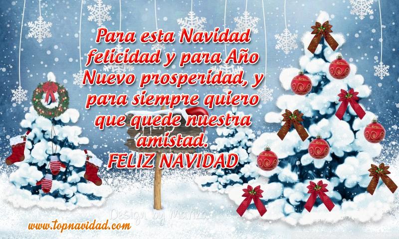 Tarjetas de navidad para felicitar al amistad en navidad y año nuevo