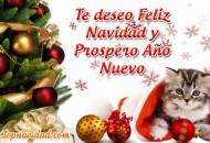 Tarjetas de Feliz Navidad y Prospero Año Nuevo 2018