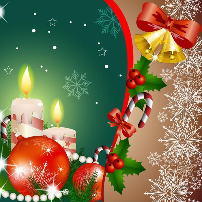 Velas de Navidad para Compartir en Facebook