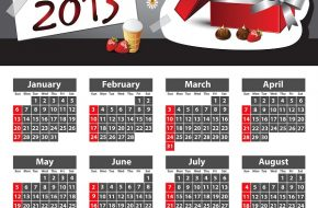 Calendario de Año nuevo 2013 para Facebook