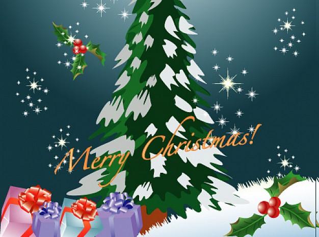 Árbol de Navidad Para postales Gratis