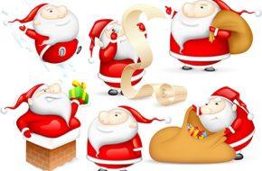 imagenes de papa Noel para Tarjetas