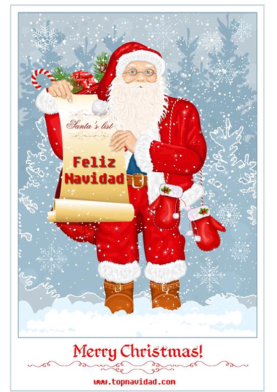 Tarjetas de Navidad con Frase Feliz Navidad